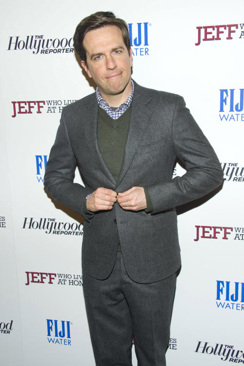 "FILE - This March 12, 2012 file photo shows Ed Helms at the premiere of ""Jeff, Who Lives at Home"" in New York. Yahoo announced a new series Monday, April 29, 2013, ""Tiny Commando,"" in a presentation to advertisers in New York. The show stars Helms, ""Chuck"" actor Zachary Levi and ""Community"" actress Gillian Jacobs. Following in Netflix's footsteps, Yahoo will release all episodes at once this fall. (AP Photo/Charles Sykes, File)"
