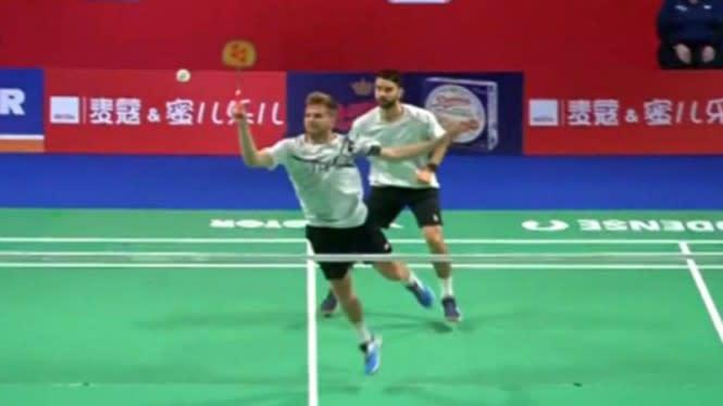 Kevin/Marcus Gigit Jari, Ganda Putra Inggris Jagoan Baru Denmark Open