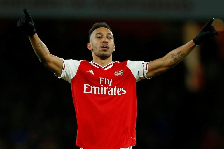 Arsenal striker Pierre-Emerick Aubameyang is joint top of the Premier League goalscoring charts with 17 goals