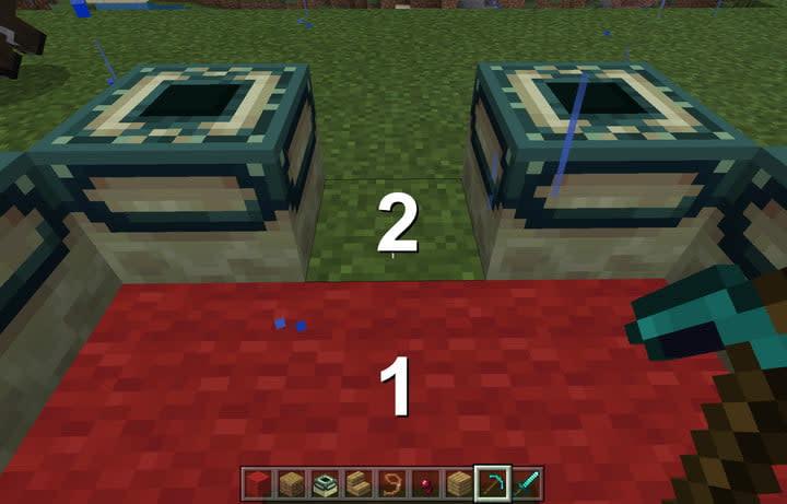 Minecraft End Portal Frame Block Spacing