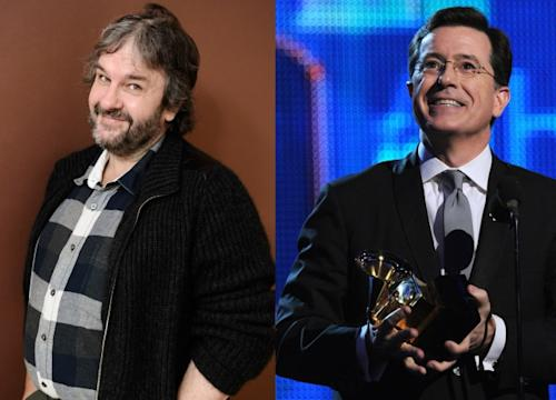 Peter Jackson, Stephen Colbert -- Getty Images