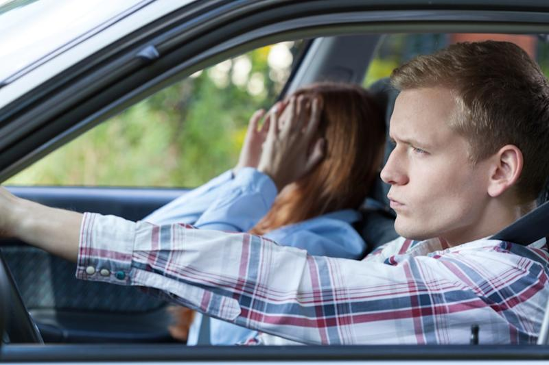 couple fighting in car, things you should never say to your spouse