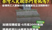 民進黨團批「限時限量限規格」為綁中國疫苗 藍斥:執政何用?