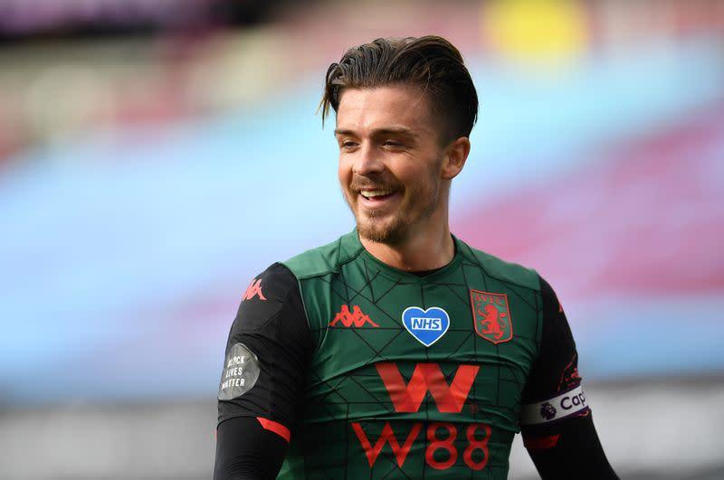 Villa's Grealish earns first England call-up as Rashford pulls out