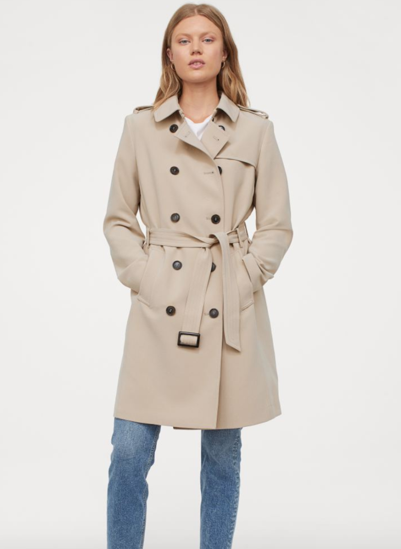 This super affordable trench coat from H&M adds the Meghan Markle-flair to any look.
