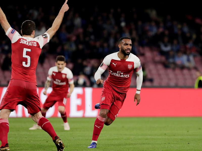 Alexandre Lacazette goal: Watch Arsenal forward's sublime free-kick against Napoli in Europa League