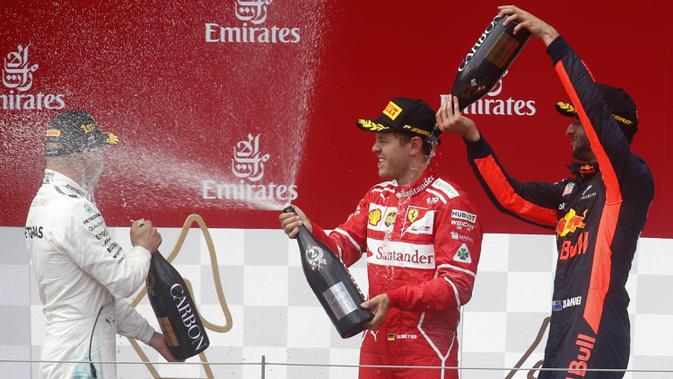Sebastian Vettel. (AP/Darko Bandic)