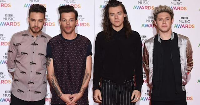 Liam Payne, Louis Tomlinson, Harry Styles and Niall Horan at the BBC Music Awards in 2015 (Copyright: David Fisher/REX/Shutterstock)