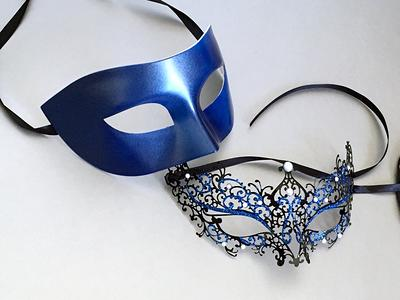 Couples Masquerade Masks silver Wolf And Fox Animal Masquerade Masks Halloween Couples Animal Masks