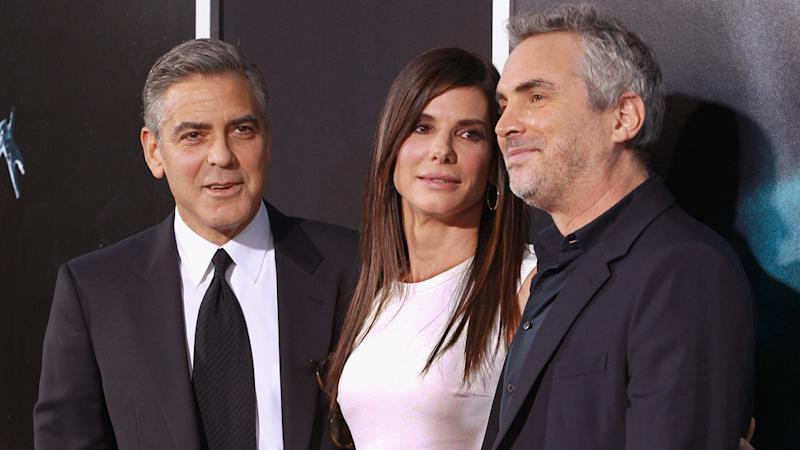 George Clooney, Sandra Bullock Stay Grounded at 'Gravity' Premiere