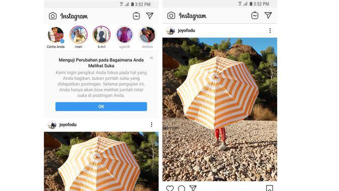 Instagram menyembunyikan jumlah Likes untuk pengguna (Foto: Instagram)