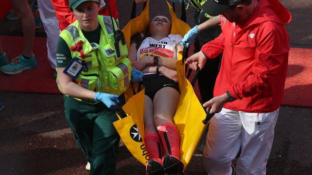 It was very distressing for some runners. Image: AFP