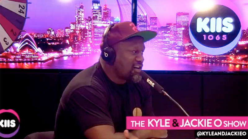 Wendell Sailor dished on the reality of being behind one of the masks. Photo: Kiis FM