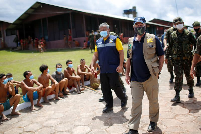 Brazil military hand out masks to protect isolated Amazon tribes