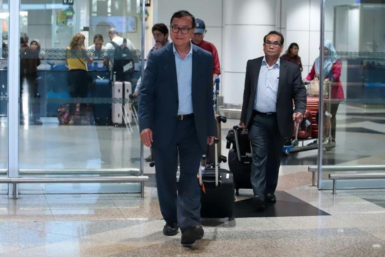 Cambodia's 70-year-old opposition leader in-exile Sam Rainsy plans to stay in Malaysia for several days