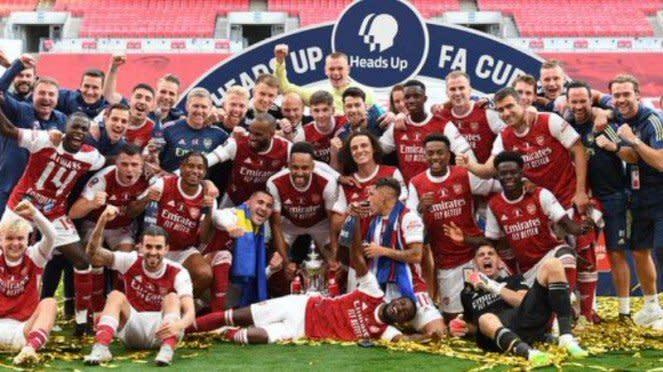 Arsenal juara PIala FA 2019/20.