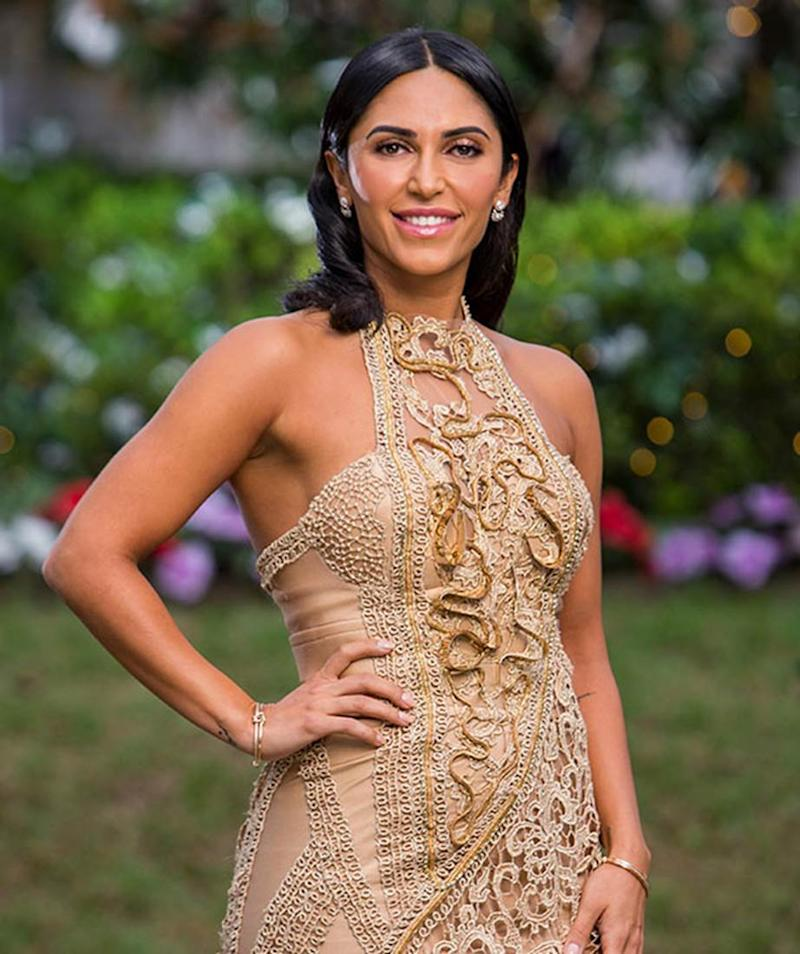 Sogand Mohtat asked Matt Agnew to marry her in Persian while wearing a gold halterneck dress on The Bachelor Australia