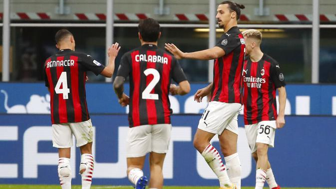 Liga Italia: Pioli Puji Profesionalisme Jempolan Zlatan Ibrahimovic, Sangat Kelelahan tapi Cetak 2 Gol