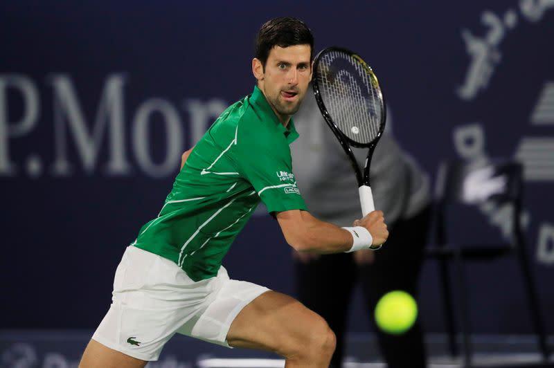 Dominant Djokovic marches into Dubai quarter-finals