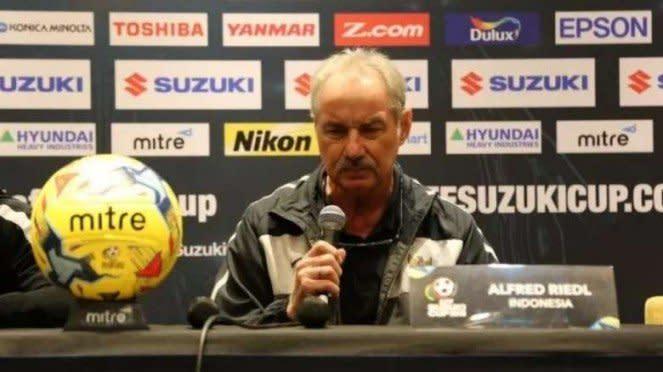 Mantan pelatih Timnas Indonesia, Alfred Riedl
