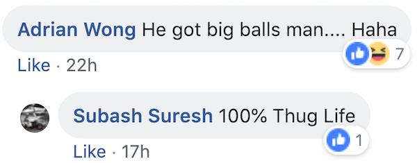 Facebook screengrab