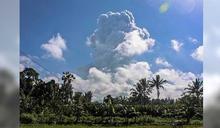 驚!印尼火山二度大噴發 灰雲上竄6千公尺天際