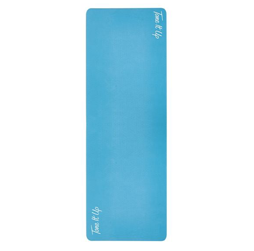 """<p><strong>Tone It Up</strong></p><p>toneitup.com</p><p><strong>$39.99</strong></p><p><a href=""""https://my.toneitup.com/products/yoga-mat-1"""" target=""""_blank"""">Shop Now</a></p><p>Not only is this mat available at a far more affordable pricepoint than many others on the market, but it scored well for quality and floor traction. <strong>Testers loved the non-slip grip that performed well from workouts ranging from yoga to high impact movements. </strong>The teal blue color is also a fun way to brighten up your home gym space.</p>"""