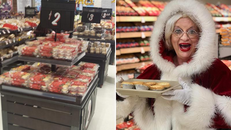 Coles starts selling a Christmas classic 127 days before Christmas, and splits opinion online. Source: Twitter - Mark Asser / Coles.