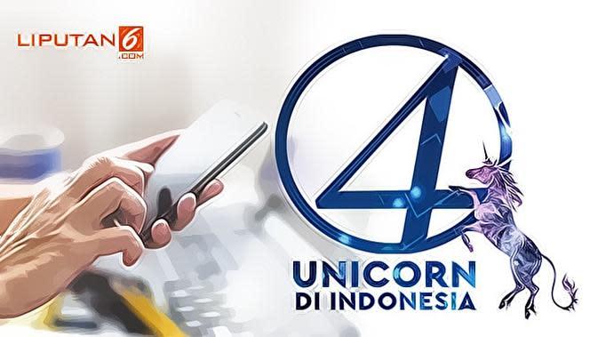 Banner Infografis 4 Unicorn di Indonesia. (Liputan6.com/Abdillah)