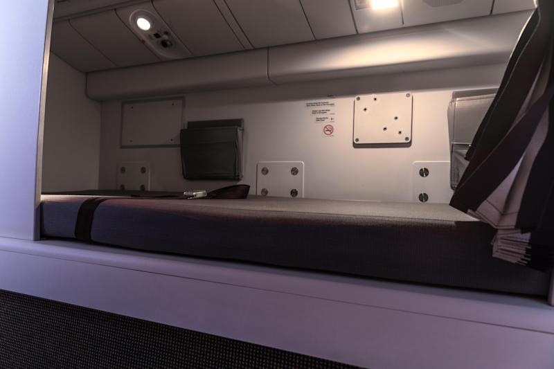 This is a Crew Rest Compartments on a Boeing 777.