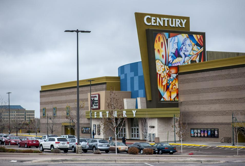 Century Aurora 16 movie theater is pictured in Colorado