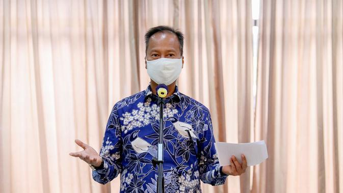 Menteri Perindustrian (Menperin) Agus Gumiwang Kartasasmita pada acara halalbihalal secara virtual di Jakarta. (Dok Kemenperin)
