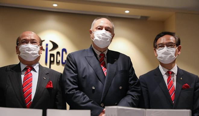Chairman Anthony Neoh and other IPCC members unveil their report at a press conference on Friday. Photo: Winson Wong