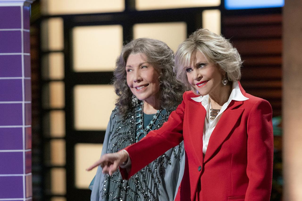 "<p>This Emmy-nominated series is big on star power and even bigger on laughs. Starring Jane Fonda, Lily Tomlin and Martin Sheen, viewers are taken on an entertaining journey as two completely opposite frenemies navigate life together after their husbands announce they're gay and leaving them for each other.</p><p><a class=""body-btn-link"" href=""https://www.netflix.com/title/80017537"" target=""_blank"">STREAM NOW</a></p>"