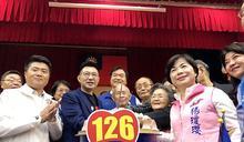 國民黨126周年慶生列車抵台中