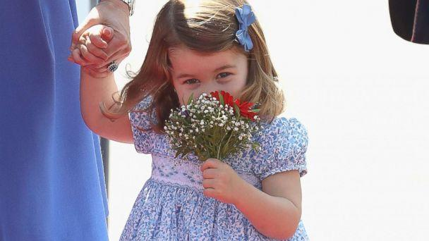 PHOTO: Princess Charlotte of Cambridge arrives at Berlin Tegel Airport during an official visit to Poland and Germany, July 19, 2017, in Berlin. (Chris Jackson/Getty Images)