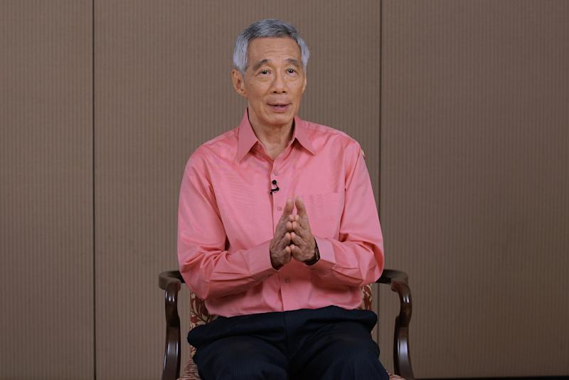 Prime Minister Lee Hsien Loong in a televised message on the novel coronavirus situation. (PHOTO: Ministry of Communications and Information)