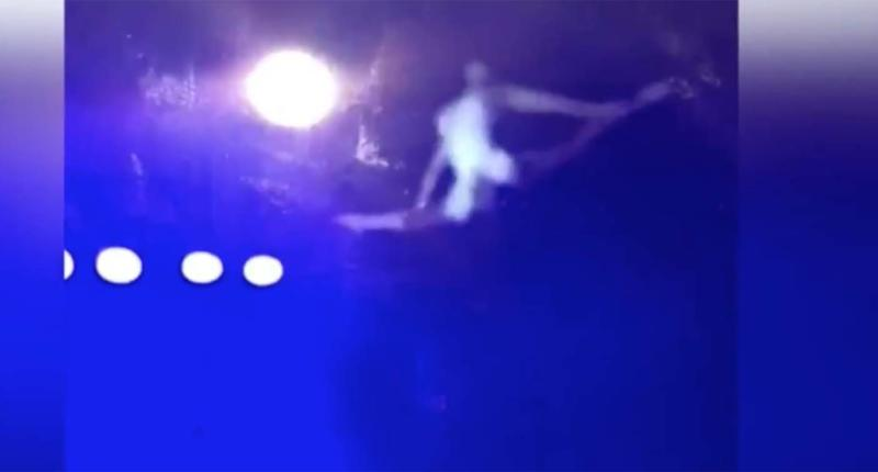 The circus performer, who was performing in Glenelg, suffered multiple injuries from the trapeze fall.