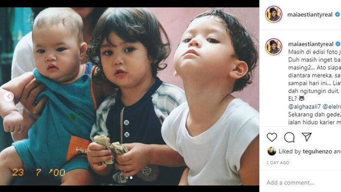 Maia Estianty unggah potret ketiga anaknya yang imut saat masih anak-anak (Dok.Instagram/@maiaestiantyreal/https://www.instagram.com/p/B-gehyeHKMU/Komarudin)