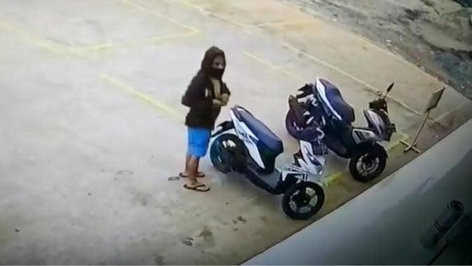 Pelaku pencurian motor Robby Purba (https://www.instagram.com/p/CAsIc1UlfGR/)