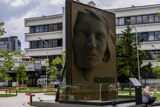 """The """"Heroines"""" monument honours the contribution and sacrifice of ethnic Albanian women during the 1998-1999 war in Kosovo"""