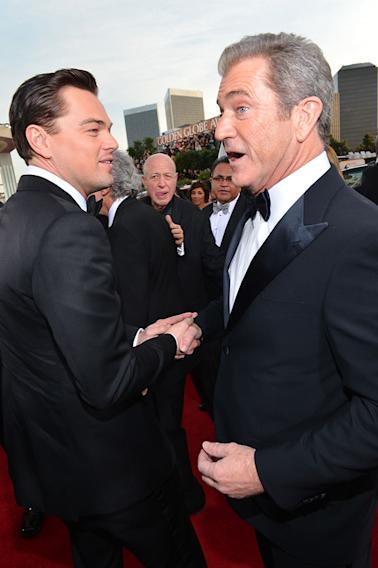 "NBC's ""70th Annual Golden Globe Awards"" - Red Carpet Arrivals: Leonardo DiCaprio and Mel Gibson"