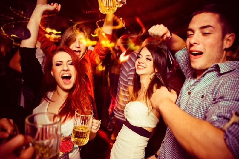 people dancing at the club, math jokes