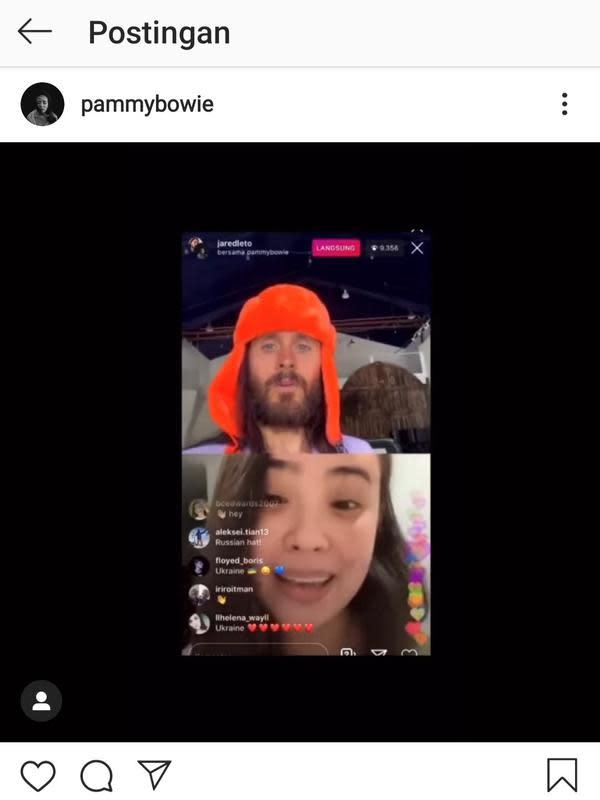 Unggahan Pamela Bowie. (Foto: Instagram @pammybowie)