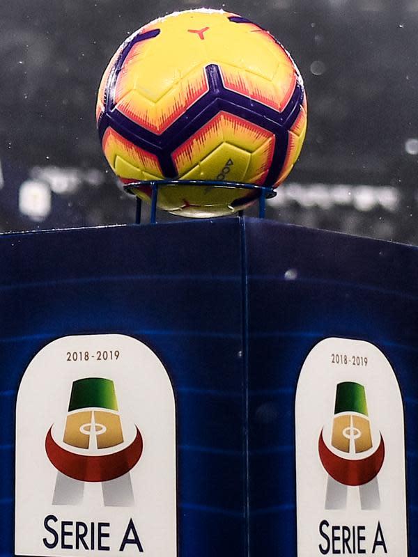 Logo Serie A. (AFP/Marco Bertorello)