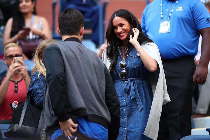 Meghan Markle at 2019 US Open to watch Serena Williams play tennis.