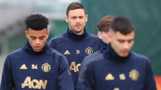 Pemain Manchester United, Nemanja Matic. (AFP Photo/Lindsey Parnaby)