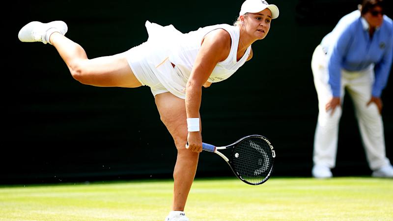 Ash Barty delivers classy speech after shock Wimbledon loss