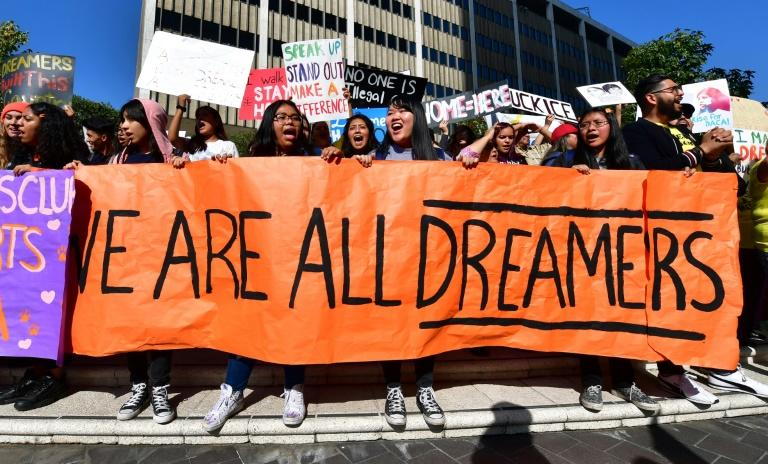 Students and supporters of DACA rally in Los Angeles in November 2019