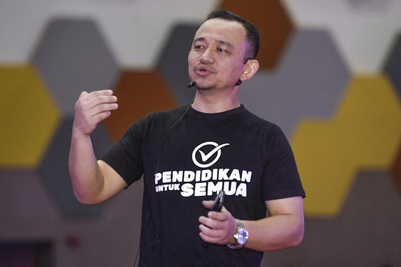 Education Minister Maszlee Malik speaks during the UiTM Townhall session in Puncak Alam September 12,2019. ― Picture by Miera Zulyana